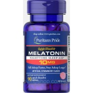 Мелатонин Puritan's Pride Quick Dissolve Melatonin 10 mg 90 капс. клубничный вкус